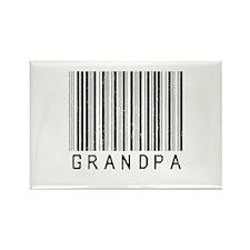 Grandpa Barcode Rectangle Magnet