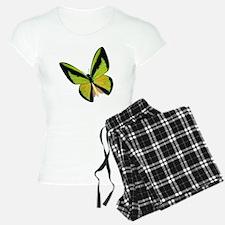 Pretty Green Butterfly Pajamas