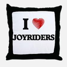 I Love Joyriders Throw Pillow