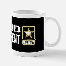 U.S. Army: Proud Grandparent (Black) Small Small Mug
