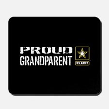 U.S. Army: Proud Grandparent (Black) Mousepad