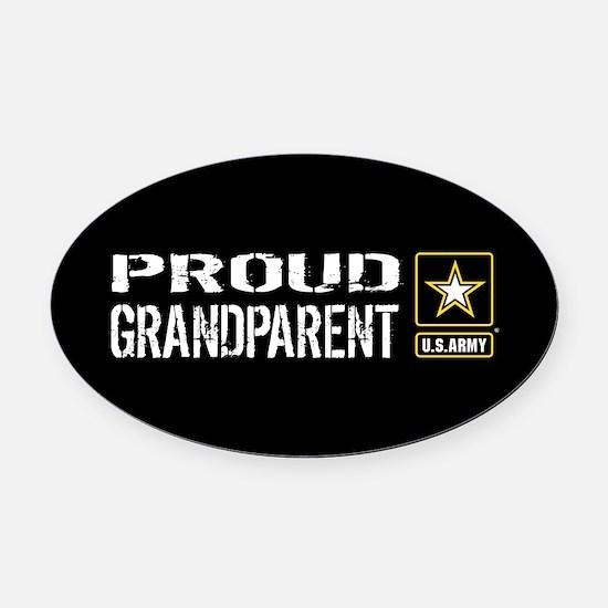 U.S. Army: Proud Grandparent (Blac Oval Car Magnet