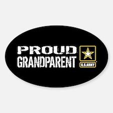 U.S. Army: Proud Grandparent (Black Sticker (Oval)