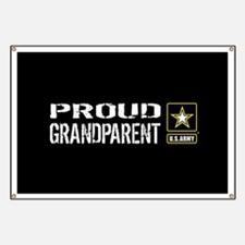 U.S. Army: Proud Grandparent (Black) Banner