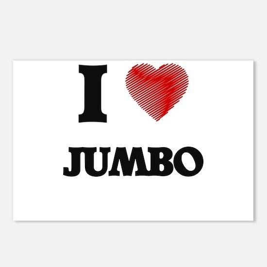 I Love Jumbo Postcards (Package of 8)