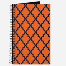 Moroccan Pattern: Navy Blue & Orange Journal