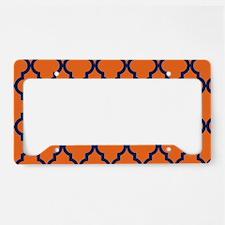 Moroccan Pattern: Navy Blue & License Plate Holder