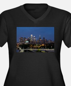 Philly skyline from Schuylkill B Plus Size T-Shirt
