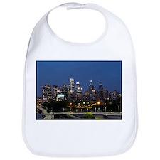 Philly skyline from Schuylkill Banks boardwalk Bib