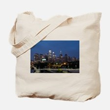 Philly skyline from Schuylkill Banks boar Tote Bag