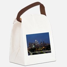 Philly skyline from Schuylkill Ba Canvas Lunch Bag