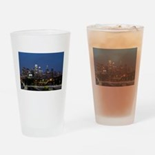 Philly skyline from Schuylkill Bank Drinking Glass