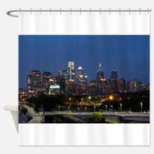 Philly skyline from Schuylkill Bank Shower Curtain