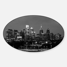 Philly skyline from Schuylkill Banks board Decal