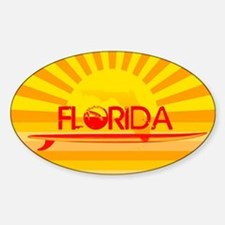 Florida Orange Sunset Decal