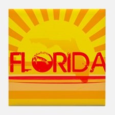Florida Orange Sunset Tile Coaster