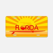 Florida Orange Sunset Aluminum License Plate