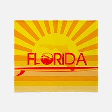 Florida Orange Sunset Throw Blanket