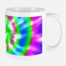 Retro Tie Dye Purple, Aqua, Green Mug