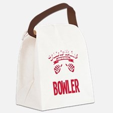 Funny Bowling Canvas Lunch Bag