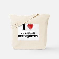 I Love Juvenile Delinquents Tote Bag