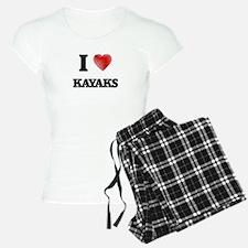 I Love Kayaks Pajamas