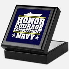 Honor Courage Commitment US Navy Keepsake Box