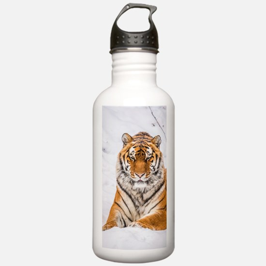 Cool White tiger on a Water Bottle