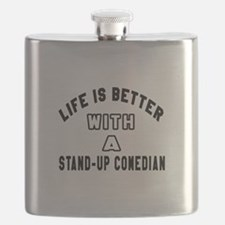Stand-Up Comedian Designs Flask
