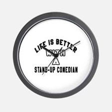 Stand-Up Comedian Designs Wall Clock