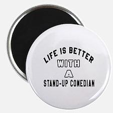 Stand-Up Comedian Designs Magnet
