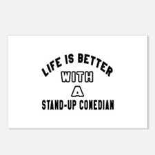 Stand-Up Comedian Designs Postcards (Package of 8)