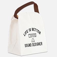 Sound Designer Designs Canvas Lunch Bag