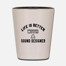 Sound Designer Designs Shot Glass