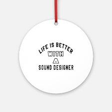 Sound Designer Designs Round Ornament