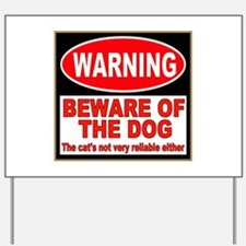Beware of the Dog Yard Sign