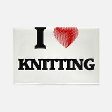 I Love Knitting Magnets
