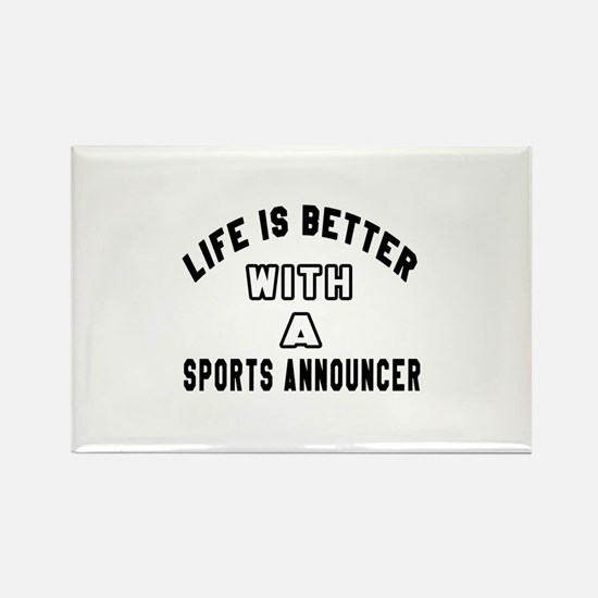 Sports Announcer Designs Rectangle Magnet