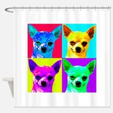 My Chihuahua Walks All Over Me Shower Curtain