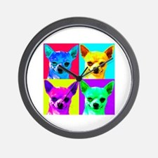 My Chihuahua Walks All Over Me Wall Clock