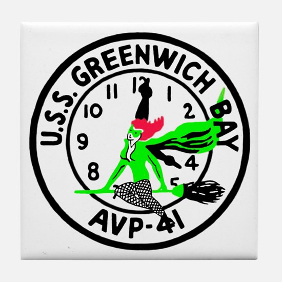 USS Greenwich Bay (AVP 41) Tile Coaster