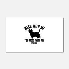 Mess With Westie Car Magnet 20 x 12