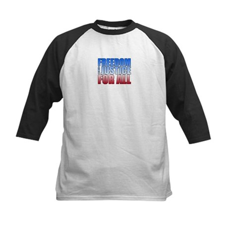 Freedom and Justice Kids Baseball Jersey