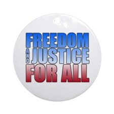 Freedom and Justice Ornament (Round)