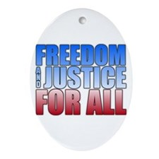 Freedom and Justice Oval Ornament