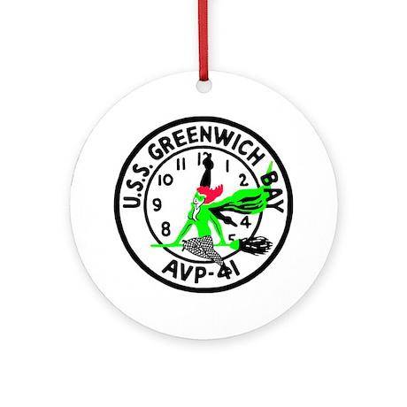 USS Greenwich Bay (AVP 41) Ornament (Round)