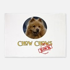 Chow Chows Rock 5'x7'Area Rug