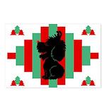 Old English Sheepdog Christmas Postcards (Pk of 8)