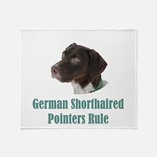 German Shorthaired Pointers Rule Throw Blanket