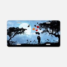 Cute Bicycle and bird Aluminum License Plate